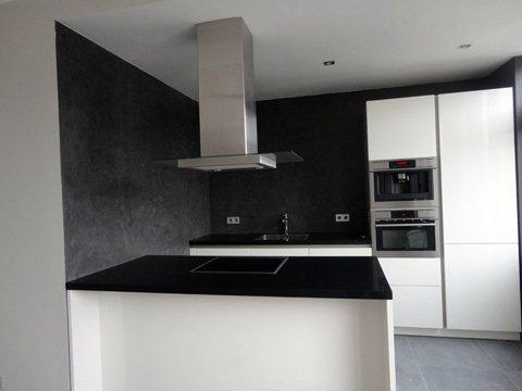 Betonlook voor vloeren muren en meubels