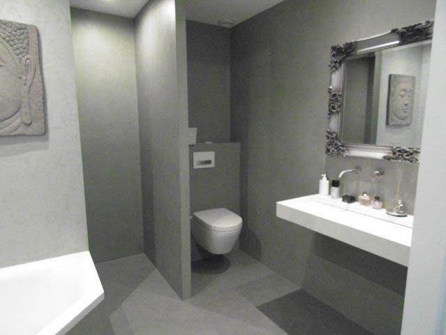 Badkamer Stucwerk Waterdicht : Uw badkamer waterdicht gestuct? in betonlook venetiaanse look of